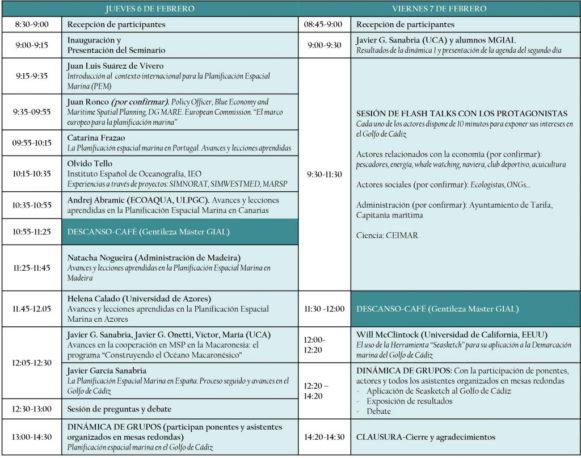 La Universidad de Cádiz acogerá los próximos días 6 y 7 de febrero el II Workshop Internacional sobre Planificación Espacial Marina