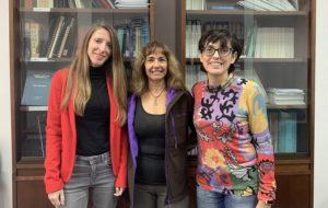 Elisabet, Tania y María José, investigadoras de la UAL del área de Química.