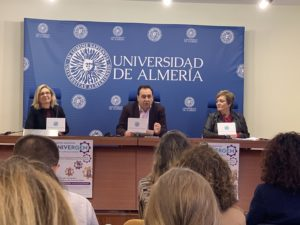 Vicerrectores y representante del IAM durante la presentación