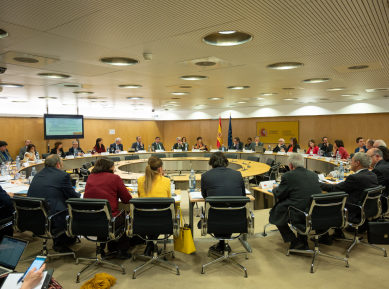 Duque y Castells presiden la primera reunión del Consejo de Política Científica, Tecnológica y de Innovación