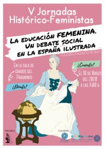 Cartel de la primera charla de las V Jornadas Histórico-Feministas