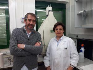 Nieves Abril y Rafael Peinado, investigadores de la UCO.