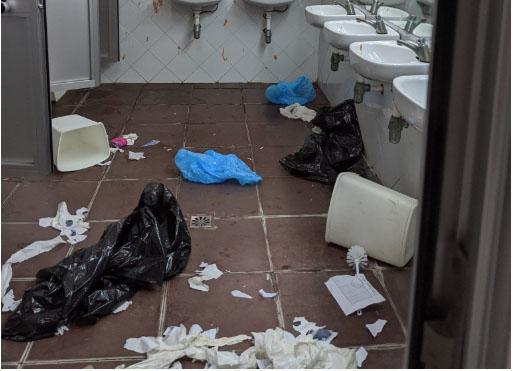 La huelga de limpieza lleva a la UMA al límite por los destrozos