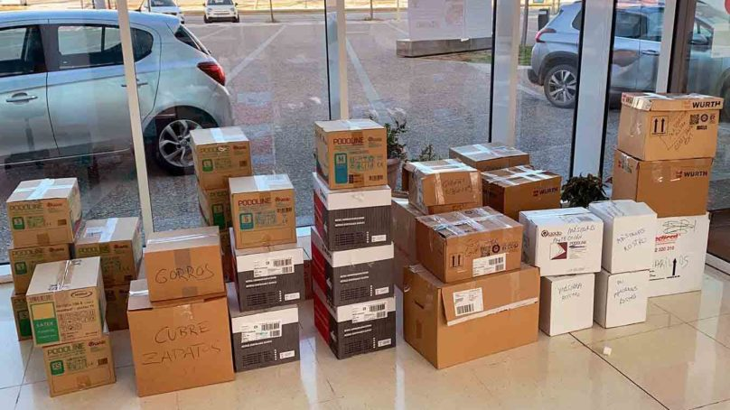 La UMA se suma a la solidaridad donando material sanitario