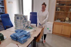Donación de material sanitario realizada por el Laboratorio