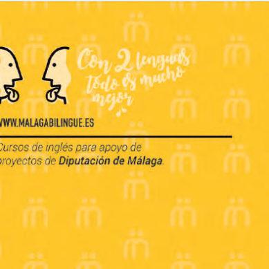 La Diputación de Málaga anima la ciudadanía a aprender inglés online con 'Málaga Bilingüe'