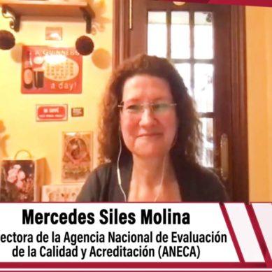 """Mercedes Siles:""""La ANECA no ha interrumpido su actividad y ha continuado con su tarea de acreditación y evaluación"""""""