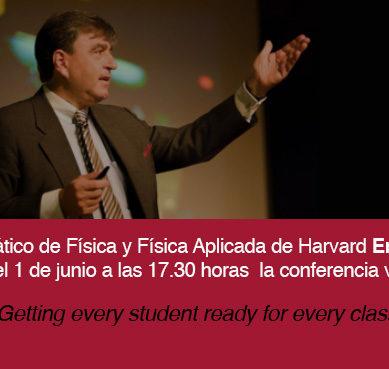 Eric Mazur hablará sobre innovación educativa en una conferencia online organizada por la UAM