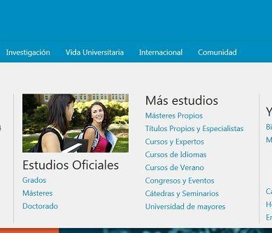 La Web Académica UAL se renueva para ofrecer mejor información de sus títulos oficiales