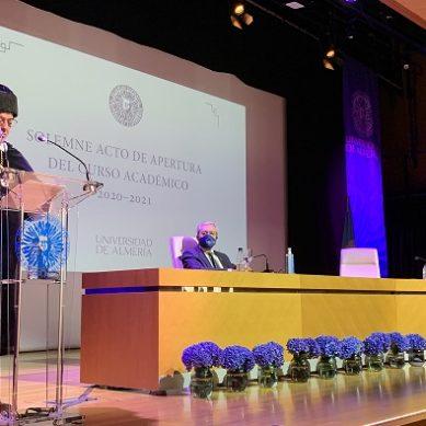 """Rodríguez apuesta por un """"campus seguro y la máxima eficiencia académica"""" en el Acto de Apertura de Curso UAL 2020/21"""