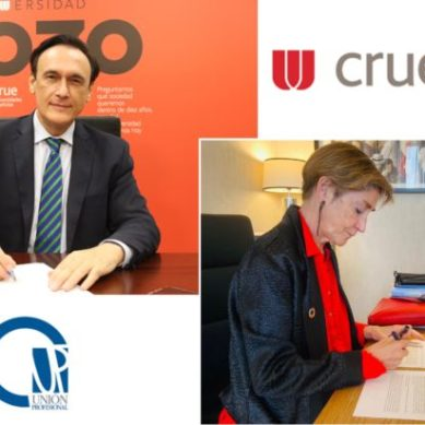 La Crue y Unión Profesional firman un convenio para potenciar la coordinación entre los ámbitos académico y profesional