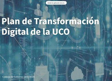 Aprobado el Plan de Transformación Digital de la UCO