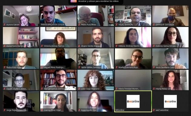 La cantera investigadora de la UCO se reúne de forma virtual