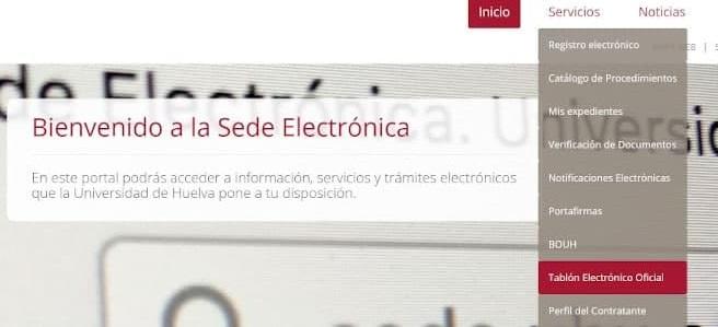 En marcha el Tablón Electrónico Oficial de la UHU