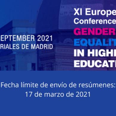 El Ministerio reabre la recepción de resúmenes para el Congreso europeo Gender Equality in Higher Education