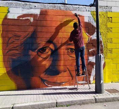 Arte urbano de la UCO para homenajear a tres mujeres científicas