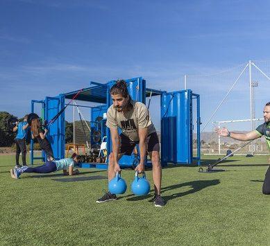 Se reinicia la actividad en las instalaciones exteriores y el Cubofit de UAL Deportes
