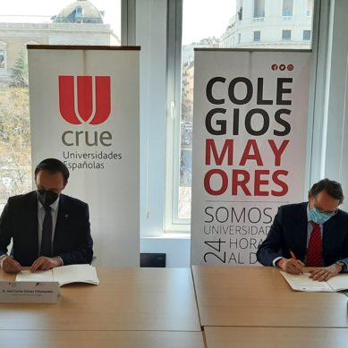La CRUE y el Consejo de Colegios Mayores Universitarios firman un acuerdo para mejorar la formación, empleabilidad y emprendimiento entre los universitarios