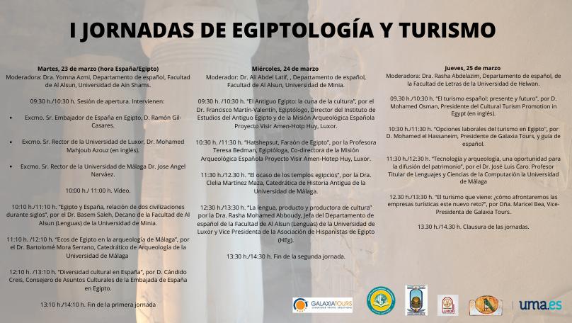 Programa de las I Jornadas de Egiptología y Turismo