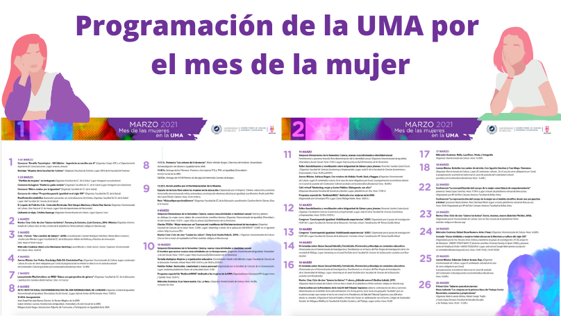 Programación del Día Internacional de la Mujer en la Universidad de Málaga