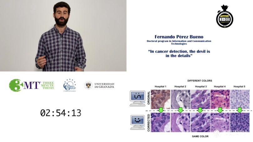 Fernando Pérez Bueno gana el concurso '3 Minute Thesis'