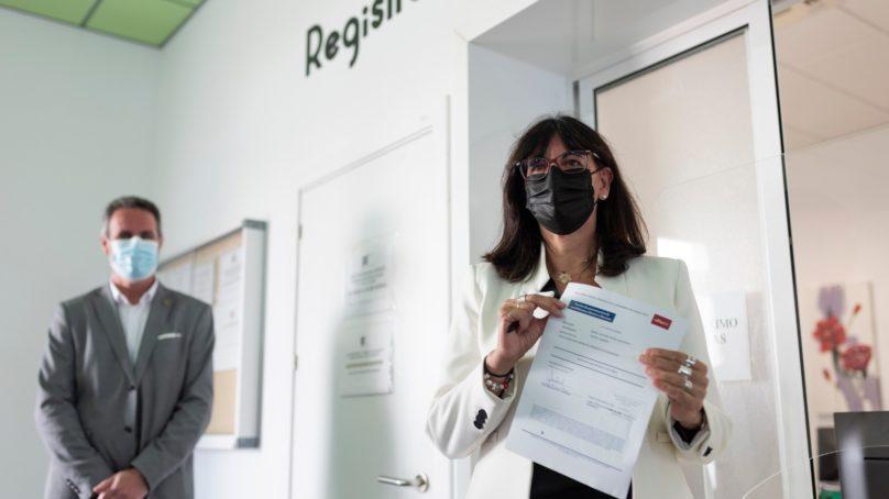 María Antonia Peña presenta su candidatura a rectora de la Universidad de Huelva