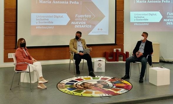María Antonia Peña aboga por la digitalización, inclusión y sostenibilidad en la UHU
