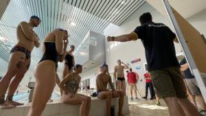 La selección española de natación entrena en la Facultad de Ciencias del Deporte de la UGR
