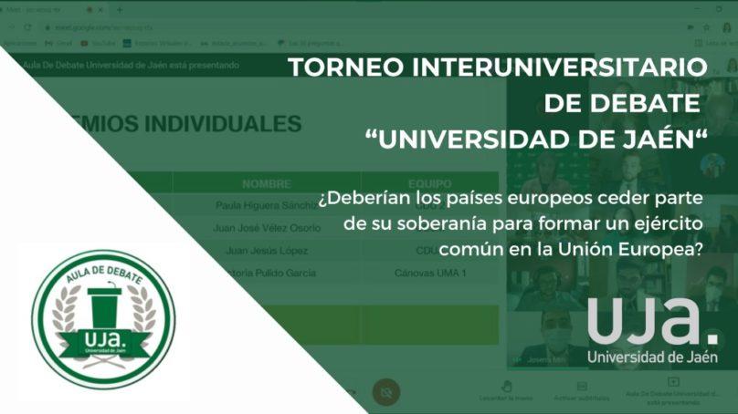 La Universidad de Jaén celebra una nueva edición de su Torneo Interuniversitario de Debate