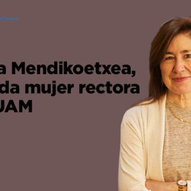 Amaya Mendikoetxea, segunda mujer rectora de la UAM