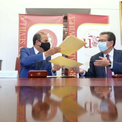 Acuerdo entre la US y la Fundación Cajasol para conmemorar el medio siglo de la FCEyE
