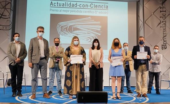 Entregados los Premios de Periodismo Científico 'Actualidad con Ciencia' de la UHU