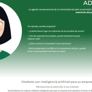 El asistente digital para el alumnado, ADA, convierte a la UJA en un referente