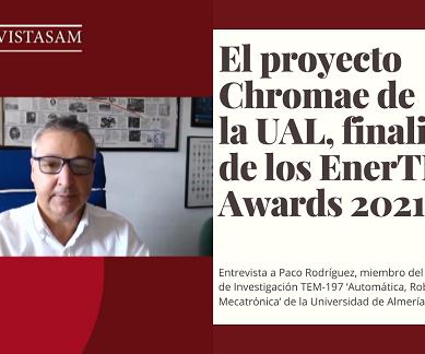 El proyecto Chromae de la UAL, candidato a ganar los EnerTIC Awards 2021
